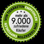 Siegel - mehr als 9000 glückliche Kunden
